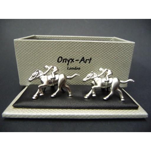 Manchetknopen Paard met Ruiter