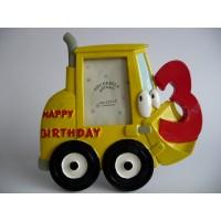 3D Fotolijst Bulldozer Happy Birthday / Hartelijk Gefeliciteerd - 3 jaar